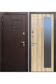 Входная  металлическая дверь VALBERG Дипломат орех премиум