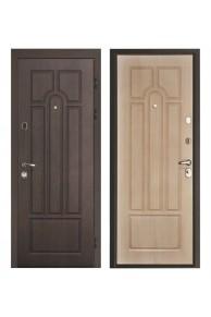 """Входная металлическая дверь Интекрон """"АФИНА CISA"""" Венге-Беленый дуб"""