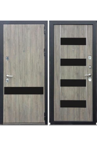 Входная  металлическая дверь Зетта ПРЕМЬЕР 100 КБ1 ИНВЕРИЯ серый дуб