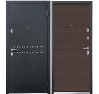 Входная  металлическая дверь Бульдорс 43 Мокко гладкий
