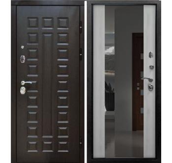 Входная металлическая дверь ZMD Премиум 183 Венге-Белая сосна (Зеркало)