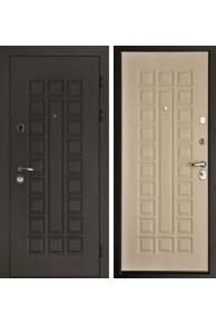 """Входная металлическая дверь Интекрон """"Сенатор"""" Венге-Дуб белёный"""