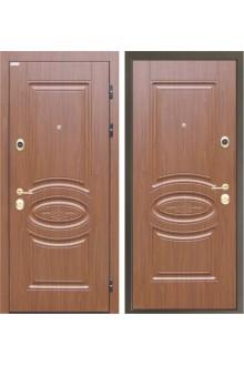 """Входная металлическая дверь Интекрон """"Император"""" Орех тиснёный"""