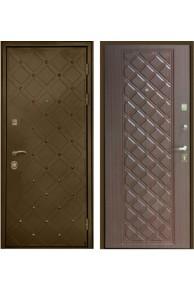 """Входная металлическая дверь Интекрон """"Сундук"""" Бронза-Махагон коричневый"""