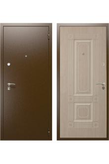 """Входная стальная дверь """"Оптима - 2"""" Беленый дуб (3 контура уплотнения)"""