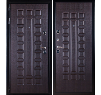 Входная металлическая дверь  Премиум 3К Венге (венге).