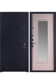 Металлическая входная дверь Триумф Крокодил Зеркало белёный дуб