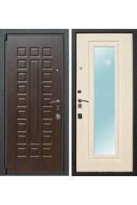 Входная металлическая дверь Лекс 4А с зеркалом (Венге / Беленый дуб)