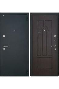 Входная стальная дверь Интекрон Аттика (шагрень черная / венге)