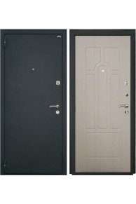 Входная металлическая дверь Интекрон Аттика1(шагрень черная / беленый дуб)