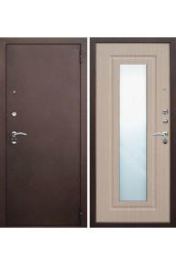 """Входная металлическая дверь Бульдорс 27 RZ с зеркалом """"Беленый венге"""""""