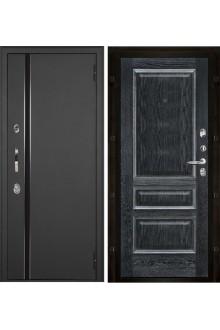 Уличная входная металлическая дверь с терморазрывом Норд Вена (Муар искра - Черная патина)