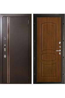 Уличная входная металлическая дверь с терморазрывом Норд Анастасия (Муар коричневый - Орех).