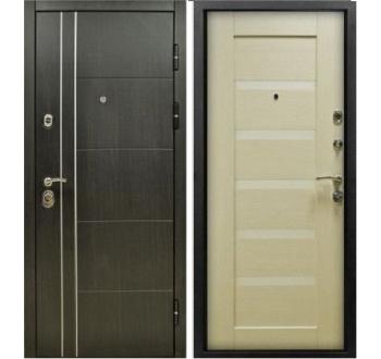 Входная металлическая дверь ZMD Техно В-04 Венге-Белая сосна