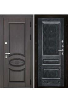 Дверь входная металлическая в квартиру Премиум Вена (Черная патина)  .