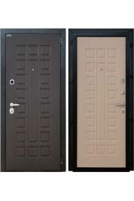 Входная металлическая дверь Интекрон Спарта (венге - беленый дуб)