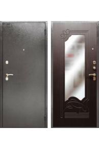 Входная металлическая сейф дверь с зеркалом Аргус ДА-6 Венге