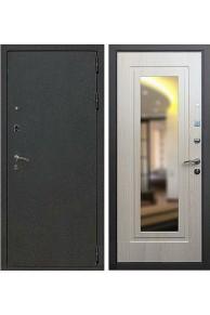 Входная металлическая дверь с зеркалом Лекс Мираж (Беленый дуб)