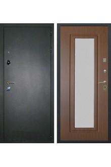 Входная металлическая дверь с зеркалом Лекс 2 (Берёза морёная)