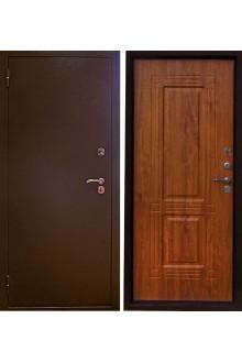 Уличная металлическая сейф дверь с терморазрывом Аргус Тепло-1(дуб янтарный)