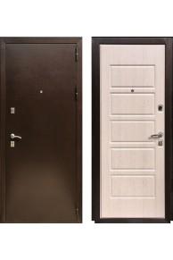 Входная  металлическая дверь Зетта Экстра 2/Д6 Беленый Дуб