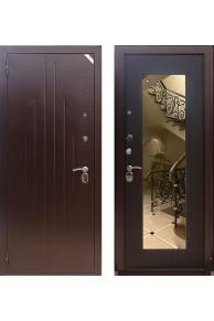 Дверь Zetta Комфорт 2 Б1 (зеркало, темный венге)