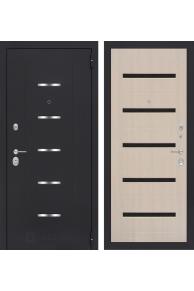 Входная металлическая дверь Лабиринт  АЛЬФА 01 - Беленый дуб или Венге