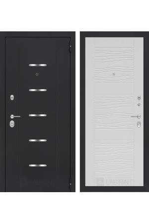 Входная металлическая дверь Лабиринт АЛЬФА 06 - Сандал серый или Белое дерево