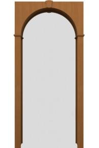 Межкомнатная шпонированная арка орех файн-лайн