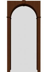 Межкомнатная шпонированная арка шоколад