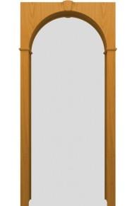 Межкомнатная шпонированная арка Т-03 Дуб натуральный