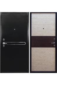 Входная металлическая дверь Арма Эконом черная шагрень/беленый дуб