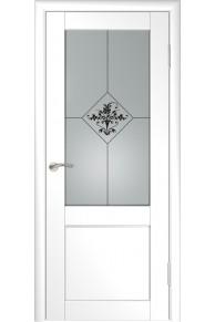 Межкомнатная дверь  экошпон Лу-33 (белая)