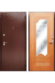 Входная металлическая сейф дверь с зеркалом Аргус ДА-13 Клен медовый