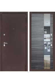 Входная дверь Лабиринт Классик с Зеркалом - Сандал серый горизонтальный