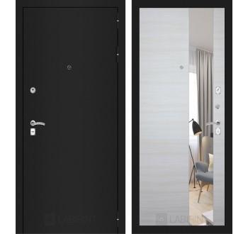 Входная дверь Лабиринт Классик с Зеркалом - Акация светлая горизонтальная