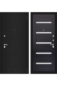 Входная металлическая дверь Лабиринт CLASSIC шагрень черная 01 - Венге