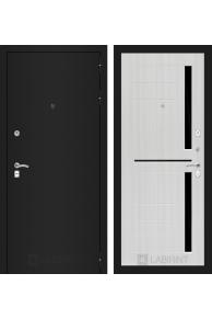 Входная металлическая дверь Лабиринт Classic шагрень черная 02 - Сандал белый или Венге