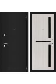 Входная металлическая дверь Лабиринт Classic шагрень черная 02 - Сандал белый