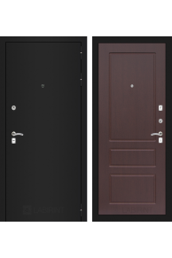 Входная металлическая дверь Лабиринт  CLASSIC шагрень черная 03 - Орех премиум