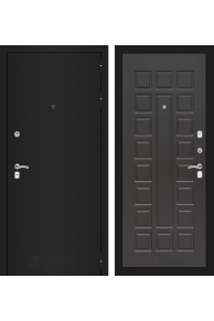 Входная металлическая дверь Лабиринт CLASSIC шагрень черная 04 - Венге или Беленый дуб