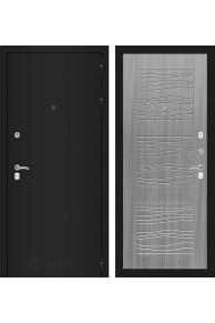 Входная металлическая дверь Лабиринт CLASSIC шагрень черная 06 - Сандал серый или Белое дерево