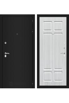 Входная металлическая дверь Лабиринт CLASSIC шагрень черная 08 - Кристалл вуд