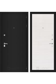 Входная металлическая дверь Лабиринт CLASSIC шагрень черная 07 - Перламутр горизонтальный