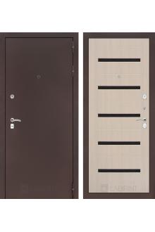 Входная дверь CLASSIC антик медный 01 - Беленый дуб, Венге