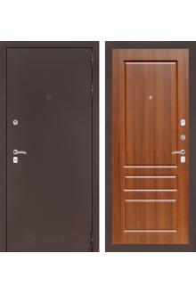 Входная дверь Лабиринт CLASSIC антик медный 03 - Орех бренди, Сандал белый, Орех премиум