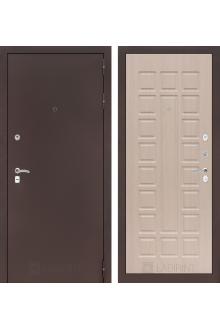 Входная дверь Лабиринт CLASSIC антик медный 04 - Беленый дуб, Венге