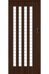 Межкомнатная раздвижная дверь (Гармошка) -011 венге