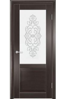 Межкомнатная дверь остекленная Венеция 1 венге