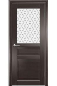 Межкомнатная дверь остекленная Венеция 2 венге